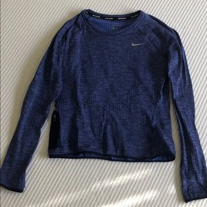 Blue Nike Dr-Fit Running Long Sleeve
